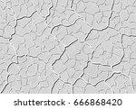 image cracks shaded in the... | Shutterstock .eps vector #666868420