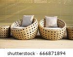 outdoor relaxing space with... | Shutterstock . vector #666871894
