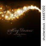 elegant christmas background... | Shutterstock .eps vector #66687202