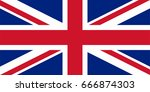 flag of united kingdom   vector | Shutterstock .eps vector #666874303