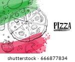 hand drawn illustration of...   Shutterstock .eps vector #666877834