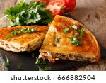 balkan home burek stuffed with... | Shutterstock . vector #666882904