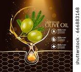 olive oil organics natural skin ... | Shutterstock .eps vector #666883168