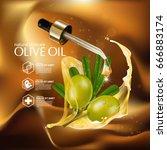 olive oil organics natural skin ... | Shutterstock .eps vector #666883174