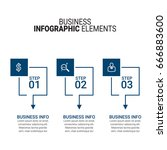 business infographic diagrams  | Shutterstock .eps vector #666883600