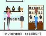 jewelry store interior. | Shutterstock .eps vector #666885349
