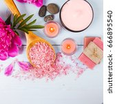 candles and spa | Shutterstock . vector #666895540