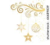 christmas ornament and star | Shutterstock .eps vector #66689839
