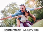 happy couple. loving couple... | Shutterstock . vector #666899488