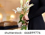 people and mourning concept  ... | Shutterstock . vector #666899776