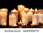 mourning and commemoration... | Shutterstock . vector #666900070