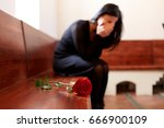 people  grief and mourning... | Shutterstock . vector #666900109