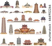 vector collection of chinese... | Shutterstock .eps vector #666902266