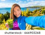 healthy green smoothie juice... | Shutterstock . vector #666903268