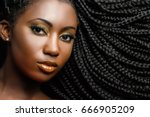 extreme close up beauty... | Shutterstock . vector #666905209