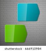 banner presentation  vector... | Shutterstock .eps vector #666910984