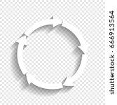 circular arrows sign. vector.... | Shutterstock .eps vector #666913564