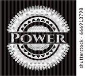 power silver emblem or badge | Shutterstock .eps vector #666913798