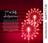 fourth of july. independence... | Shutterstock .eps vector #666917728