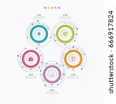 infographics template 5 options ... | Shutterstock .eps vector #666917824