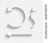 simple set to interface arrows. ... | Shutterstock .eps vector #666918454