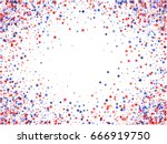 july 4 background with stardust ... | Shutterstock .eps vector #666919750