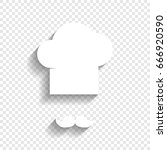 chef hat and moustache sign....   Shutterstock .eps vector #666920590