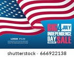 4th of july independence day... | Shutterstock .eps vector #666922138