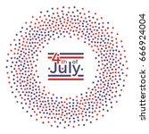 4 of july banner for... | Shutterstock .eps vector #666924004