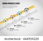 vector illustration of arrow... | Shutterstock .eps vector #666924220