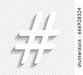 Hashtag Sign Illustration....
