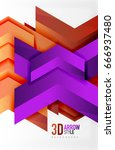 techno arrow background  vector ... | Shutterstock .eps vector #666937480