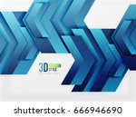 techno arrow background ... | Shutterstock . vector #666946690