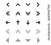 vector set of different black... | Shutterstock .eps vector #666946744