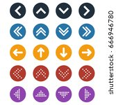 vector set of different color... | Shutterstock .eps vector #666946780