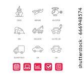 transportation icons. car  ship ... | Shutterstock .eps vector #666948574