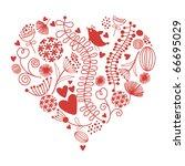 floral heart | Shutterstock .eps vector #66695029