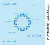 abstract circle of people icon | Shutterstock .eps vector #666952138