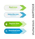special website buttons... | Shutterstock .eps vector #666952618
