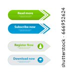 special website buttons... | Shutterstock .eps vector #666952624