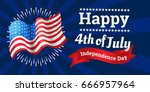 independence day banners flag... | Shutterstock .eps vector #666957964