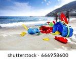 Beach And Toys On Sand