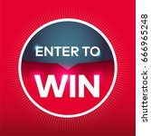 enter to win red blue circle... | Shutterstock .eps vector #666965248