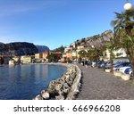 torbole sul garda lago di garda ... | Shutterstock . vector #666966208