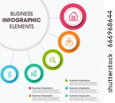 modern infographic paper... | Shutterstock .eps vector #666968644
