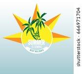 summer label lettering... | Shutterstock .eps vector #666971704