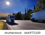 trucks transportation | Shutterstock . vector #666972100