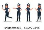 police character vector design | Shutterstock .eps vector #666972346