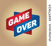 game over arrow tag sign.  | Shutterstock .eps vector #666974614