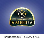 gold shiny emblem with... | Shutterstock .eps vector #666975718